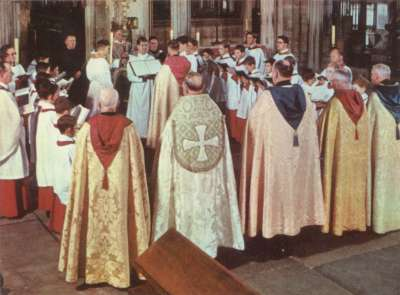 Exeter cathedral choir 1963
