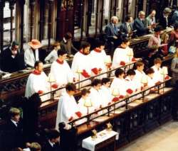 Exeter Cathedral choir - Cantoris 1982
