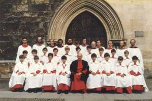 Exeter Cathedral choir July 1980